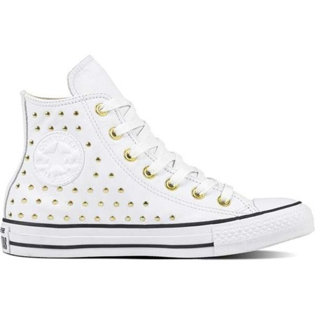 afe712dc1f44 Women s Shoes Sneakers Converse CHUCK TAYLOR ALL STAR LEATHER WHITE WHITE  GOLD