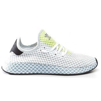 76a1d5e51d9f8 adidas DEERUPT RUNNER W BLUE TINT ASH GREY HI RES YELLOW Shoes (CG6094)