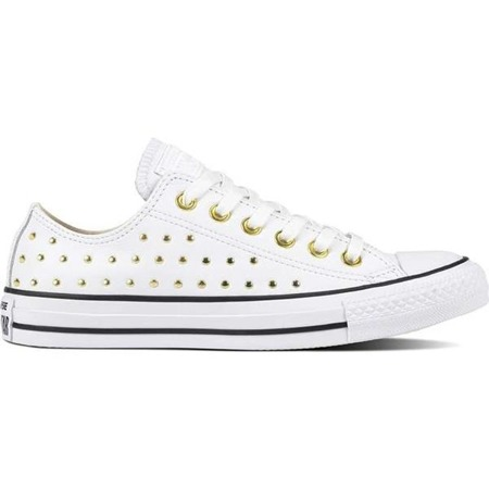 Converse CHUCK TAYLOR ALL STAR LEATHER WHITE WHITE GOLD