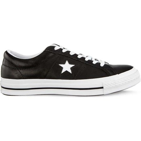 Converse ONE STAR OX C163385 BLACK WHITE WHITE Men's Shoes Sneakers