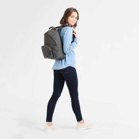 Eastpak Padded Pak'r Black Denim Backpack - EK62077H