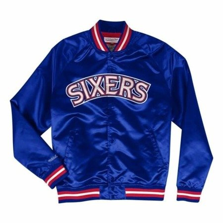 Mitchell & Ness NBA Philadelphia 76ers Lightweight Satin Jacket - STJKMG18013-P76ROYA1