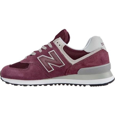 Women's Shoes Sneakers New Balance WL574ER BURGUNDY WITH WHITE