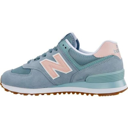 Women's Shoes Sneakers New Balance WL574FLB SUMMER DUSK SMOKE BLUE WITH HIMALAYAN PINK