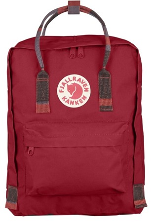 Kanken Plecak fjallraven Deep Red-Random Blocked 325-915