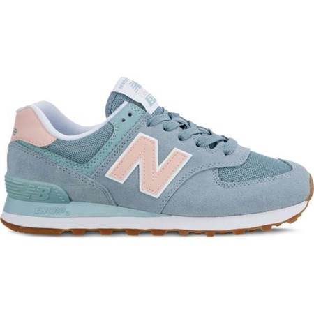New Balance WL574FLB SUMMER DUSK SMOKE BLUE WITH HIMALAYAN PINK - Buty Damskie Sneakersy