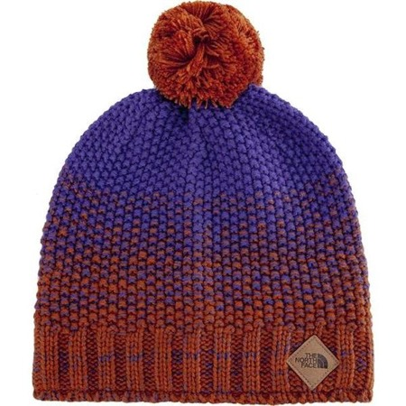 The North Face ANTLERS BEANIE GINGERBREAD BROWN DEEP BLUE - Czapka Zimowa