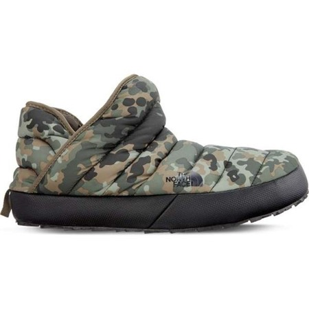 The North Face MEN'S THERMOBALL TRACTION BOOTIE TARMAC GREEN MACROFLECK PRINT TUMBLEWEED GREEN -Męskie Kapcie Wsuwane